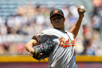 Wei-Yin Chen pitched seven scoreless innings in the Orioles' 2-0 win over the Braves.