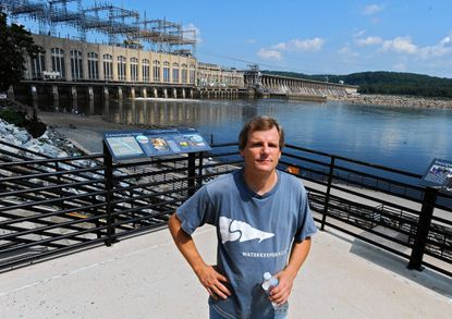 Michael Helfrich, Lower Susquehanna Riverkeeper, is pictured at the Conowingo Dam.