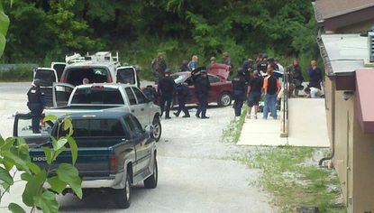 Pictured is a police-involved shooting involving federal ATF agents.