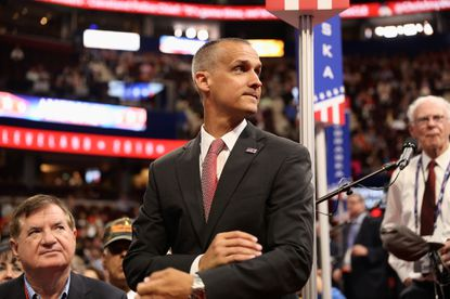 Corey Lewandowski, former campaign chairman for Republican nominee Donald Trump, was featured prominantly on CNN in their early election night coverage.