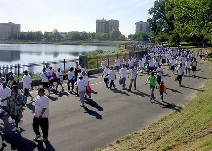 Hundreds of people in recovery from addiction, plus counselors, hospital employees, and others with a stake in the drug treatment industry gathered in Druid Hill Park on Sept. 11 for the fourth annual Recovery Walk and Rally.