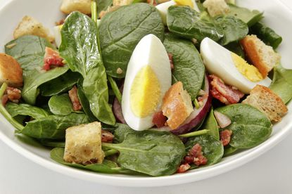 Hard-boiled eggs can add richness to a salad.