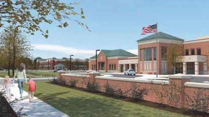 A rendering of the new school, now named Hanover Hills Elementary.