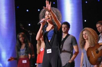"Shi Scott, a former Belcamp resident, performs in Hollywood during a recent episode of Fox's ""American Idol' competition."""