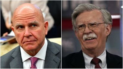 President Donald Trump announced Thursday that he will replace H.R. McMaster, left, as national security adviser with former U.S. Ambassador to the United Nations John Bolton.