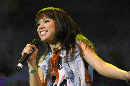 Carly Rae Jepsen performs during the 103.5 KISS FM Fantabuloso concert at the Allstate Arena in Rosemont, Ill.