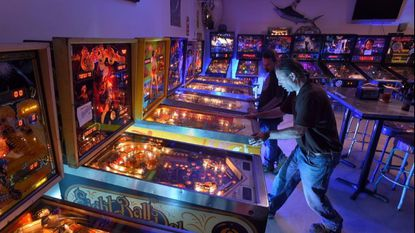 Christopher Mohr of Crownsville plays pinball at Crabtowne USA.