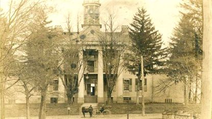 The cornerstone for the historic Carroll County Courthouse was laid June 13, 1838. It was constructed for $18,000. The building, pictured here from around 1905, served as the center of government until approximately 1960, through many changes in Carroll County government.