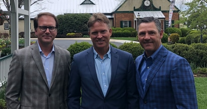 From left, Joe Plecker, Rick Geritz and Michael Hudak, founders of Baltimore-based Swing AI.