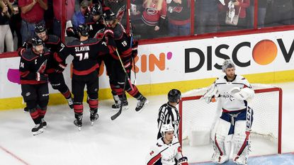Hurricanes beat Capitals, 2-1, even first-round series at 2 games apiece; Oshie to be out 'for a while'