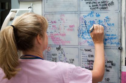 More calls are coming in, and the board is filling up with patients whose lives are on the line at the Trauma Resuscitation Unit of the University of Maryland Medical Center in Baltimore.