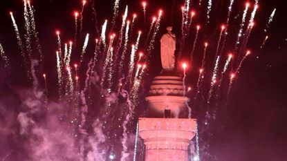 The annual holiday lighting of Baltimore's Washington Monument is set for Thursday.