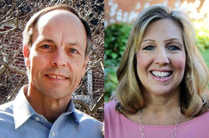 Robert Frisch, left, and Laura Runyeon are candidates for the Harford County Board of Education's District B seat representing Joppa, Fallston and part of Abingdon.