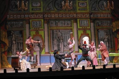 "A scene from Lyric Opera Baltimore's production of ""The Barber of Seville."""