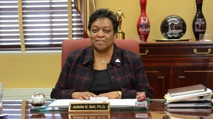 Juliette B. Bell, president of the University of Maryland Eastern Shore, is stepping down in June.