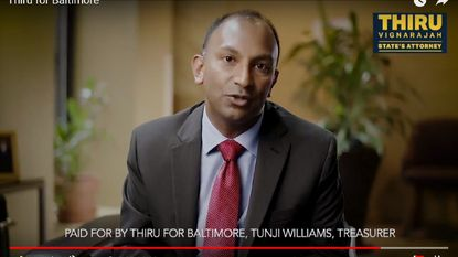 Baltimore State's Attorney candidate Thiru Vignarajah has rolled out a $200,000 ad buy for the final week before the June 26 Democratic primary election.