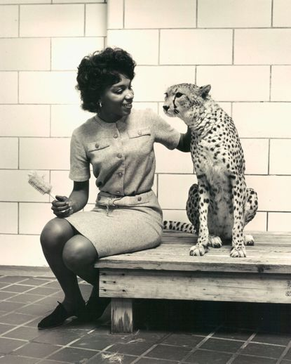 Mary J. Wilson worked at the Baltimore Zoo from 1961 to 1999, caring primarily for gorillas, cats and elephants. She's pictured here in February 1966.