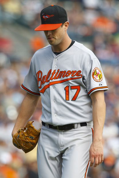 Brian Matusz gave up six earned runs in five innings, falling to 1-9 on the season.