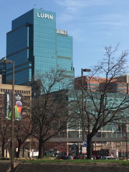 The Lupin sign was installed April 5.