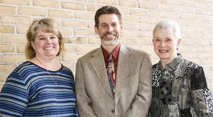 Three Harford Community College employees - Jan Brewer, left, Scott Schaeffer, center, and Deborah Jaeger - have been named recipients of the 2013 National Institute for Staff and Organizational Development (NISOD) Awards.
