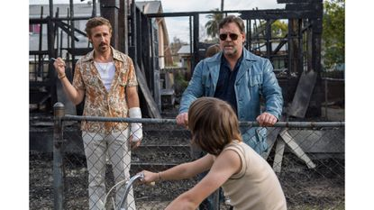"March (Ryan Gosling, left) and Healy (Russell Crowe) in ""The Nice Guys"""