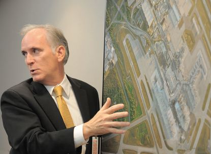 Paul Wiedefeld, BWI's executive director, talks about the expansion of the B and C concourses at the airport as they seek to accommodate the merging of Southwest and AirTran.