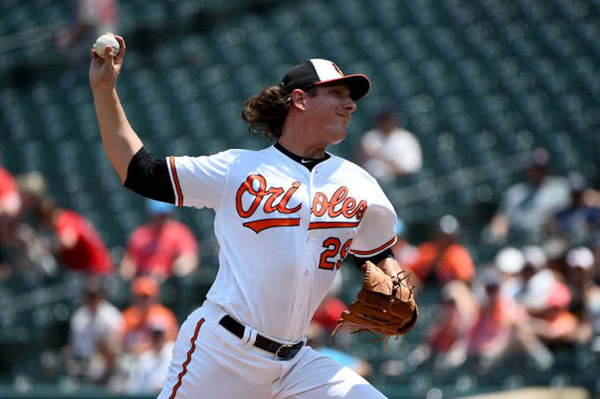 Asher Wojciechowski's no-hit bid, Trey Mancini's homers off Andrew Cashner give Orioles 5-0 win over Red Sox