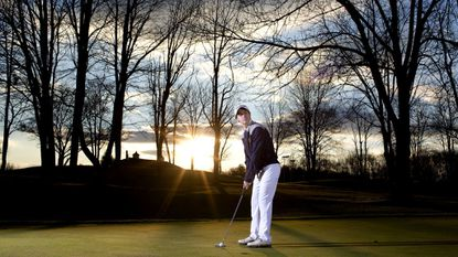 Boys Golf All-County Player of the Year River Hill senior Kevin Hickey won the 1A/2A individual state championship in a three-hole playoff this fall.