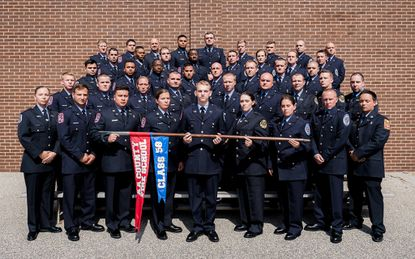 Forty-three new firefighters have joined the ranks of three area fire departments following their graduation from the Anne Arundel County Fire Department Training Academy Sept. 20.