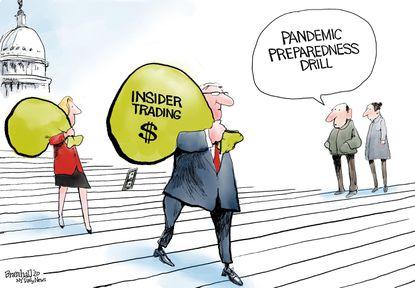 Sens. Richard Burr, D-N.C.; Dianne Feinstein, D-Calif.; Kelly Loeffler, R-Ga.; and James Inhofe, R-Okla. are accused of insider trading after selling millions of dollars in stock during the coronavirus pandemic.