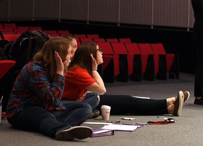 """Kassidy Sharp, center, is directing Glenelg's High School's Broadway Connections production of """"A Day tor Remember"""" on Feb. 27."""