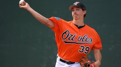Orioles' pitching prospect Hunter Harvey, shown here earlier in spring training, pitched well again on Tuesday afternoon against the Minnesota Twins.