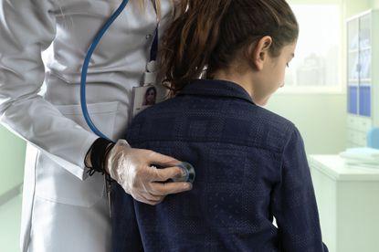 Pediatrician, Stethoscope, Listening, Child, Medical Examination Room