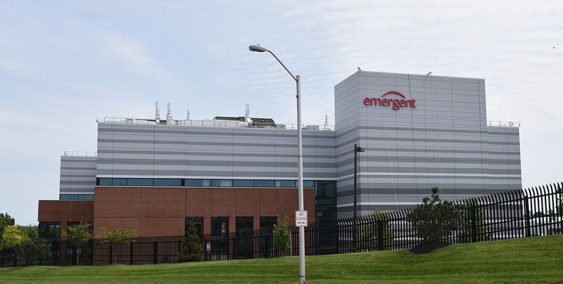 AstraZeneca's coronavirus vaccine candidate is being manufactured at Emergent BioSolutions' facility in East Baltimore, shown in a 2017 photo.