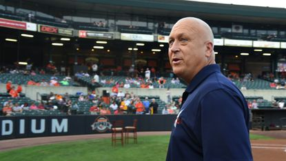 Cal Ripken Jr., former Baltimore Orioles Hall of Fame player and principal owner of the Aberdeen IronBirds, is shown on the field at Aberdeen's Ripken Stadium in 2016. His organization and the City of Aberdeen has been unable to reach a deal on stadium management.