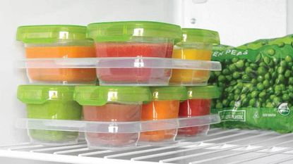 Date any food you're prepping for the freezer. Baby food storage containers that come with labels will ensure that you're not feeding your child expired food.