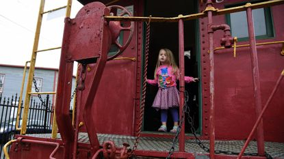 Meredith Hook, 3, explores the B&O Ellicott City Station Museum, which will feature a Women in Railroading exhibit in March. Algerina Perna/Baltimore Sun Staff.