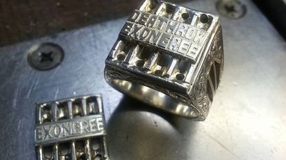 Exonerated death row inmate Kirk Bloodsworth has taken up jewelry making, including Super Bowl-style rings he makes for others who were released from prison because of wrongful convictions.