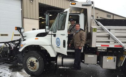 Harford County Executive Barry Glassman is shown thanking road crews during the Jan. 6 snowstorm. The county has launched a snow plow tracking service via computer, tablet or phone.