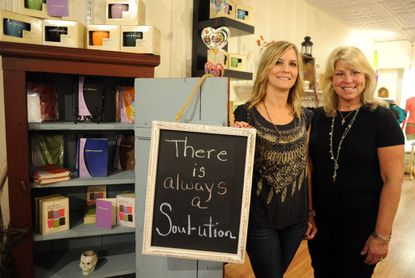 "Kyanne Garrigan, left, and Lisa Brenner opened Full Heart Soul-utions on Bel Air's Main Street to offer ""a one-stop shop for mindful living,"" Garrigan says."