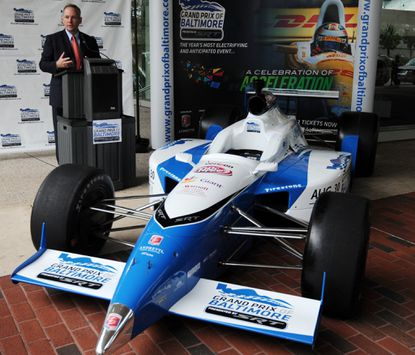Tim Mayer, general manager of the Grand Prix of Baltimore, talks about construction on the two-mile course.