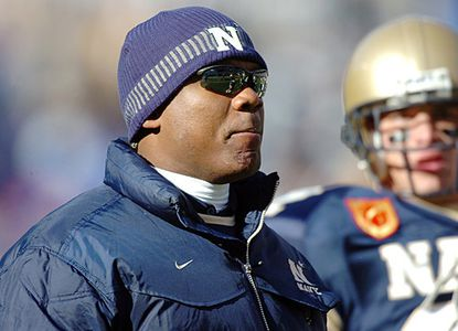 Navy offensive coordinator Ivin Jasper stands on the sideline of a recent game.