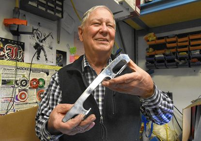 Mike Cunningham, 75, has spent a lifetime sharpening blades for skaters, including champions like Dorothy Hamill and Tara Lipinski. His business, Skater's Paradise, is based at the Capitol Clubhouse Arena.