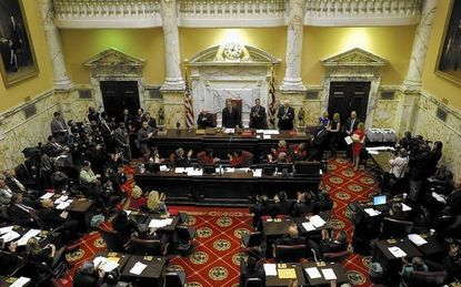 State legislators from the Towson area will again push for adoption of a partially elected Baltimore County School Board when the 434th session of the Maryland General Assembly convenes Wednesday.