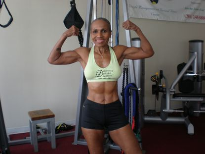 "Ernestine Shepherd, 84, a Baltimore world champion bodybuilder, appears in Beyoncé's ""Black is King"" video album."