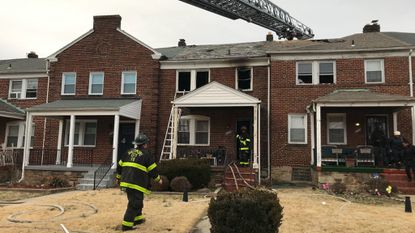 Several houses caught fire on the 3100 block of Tioga Parkway on Wednesday afternoon.