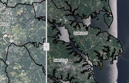 This image was captured from the map comparing tree cover in 2013 to 2017 prepared by the Chesapeake Conservancy's Conservation Innovation Center for Anne Arundel County.