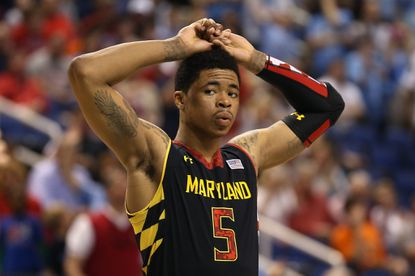 Former Maryland guard Nick Faust during an ACC tournament semifinal in 2013.