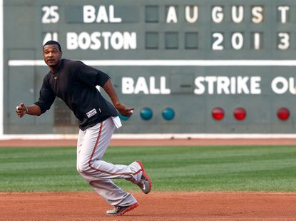 Adam Jones and the Orioles begin a three-game series against the Red Sox tonight at Fenway Park.