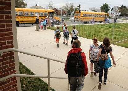 Hampton Elementary in Lutherville opened this school year 255 students above its capacity.